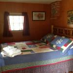 One of the bedrooms in Rainbow Cabin