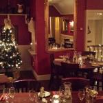 Upstairs dining area at Christmas