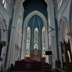 Stained glass & altar