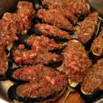 Eggplant with onion and tomato