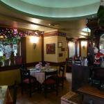 Inside the restaurant with Xmas decoration