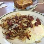 Half an order of corned beef and hash.