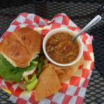 Crab and Shriimp Burger and Seafood Gumbo Special