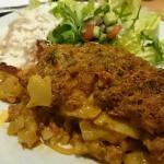 Sweet potato and chorizo crumble