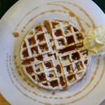 Maple syrup Waffles.