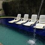 Vista da piscina, na estadia em que fiquei no Hotel