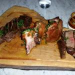 Assorted meats from Branca - organic chicken, Leg of lamb and steak