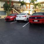 парковка перед мотелем