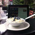 Bircher muesli breakfast