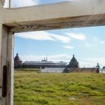 Соловки - Соло - вид из окна на монастырь