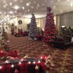 Lobby at Christmas time