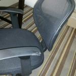Chair had mud