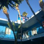 Center of hostel grounds.  Vibe Hotel = Banana B?