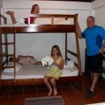 Great room for family of 5, double lower bunk with single bunk above + double bed for the parent