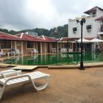 the hotel compound