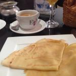 Crepes and American coffee