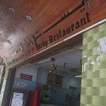 The Lucky Restaurant Entrance Signage
