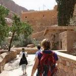 Climbing the mountain of Saint Catherine