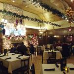 Main dining room decorated for Christmas at Old Town Inn, Germantown, WI