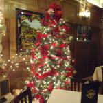 Christmas tree in main dining room, Old Town Inn, Germantown, WI