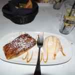 Apple strudel with vanilla ice cream at Old Town Inn, Germantown, WI