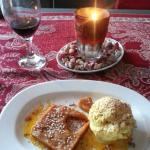special PHF dessert halva and traditional ice cream