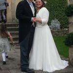 Entrance shot of wedding at Bowlish House