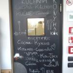Original porta de acesso a cozinha do Ocabianca