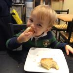 My little brother having the kids' grilled cheese- he loved it!