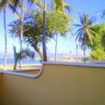 Vista del mar de la habitación.