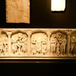 A sarcophagus from Roman times.