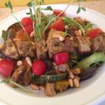 roasted vegies salad with Moroccan chicken