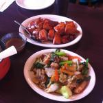 BBQ Duck & Roast Pork w Veggies