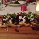 Mushroom and Goats Cheese Bruschetta