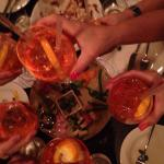 Aperol spritz and antipasto!