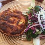 Vegetarian Quiche and a beautiful lamb's lettuce.  The salad was so good, I could have had a gia