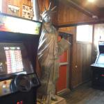 Lady Liberty in the arcade