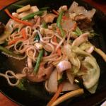 Stir fried udon - sorry this pic was taken after we ate half. The original dish was bigger