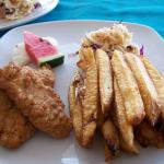 Lion fish and fries