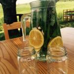 Complimentary infused water