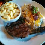 Filet with Mac & Cheese and loaded potatoes