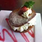 Home made brandy snap baskets filled with Eton mess... Scrumptious!
