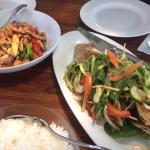 Chicken Cashew and Pad La Prik