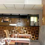 Indigo Cafe seating & kitchen
