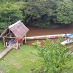 Boat dock with motoried canoes