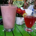 Fruit Smoothie and Kombucha