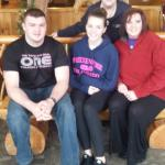 The Front Desk Manager, Cindi, with our family!