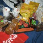 Dulces comprados en el Mercado