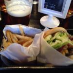 Spicoli burger and fries