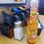 Hot sauce on the table